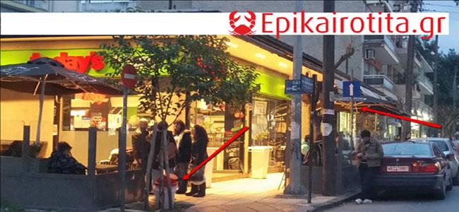 Συνεχίζουν τα καφέ την κατάληψη των πεζοδρομίων! (*Θεσσαλονίκη)