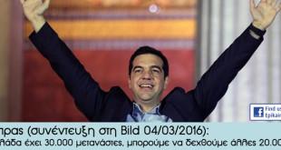 Τσίπρας: Η Ελλάδα έχει 30.000 μετανάστες, μπορούμε να δεχθούμε άλλες 20.000!