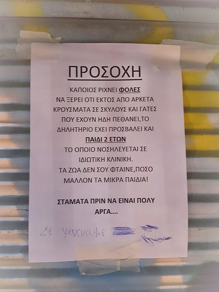 Προσοχή! Θεσσαλονίκη: Έριχνε φόλες σε σκυλιά και παιδί 2 ετών κατέληξε στο νοσοκομείο! In
