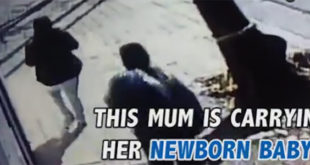 Άντρας προσπαθεί να κλέψει μωρό 3 μηνών από την μητέρα του μέρα-μεσημέρι! (Βίντεο)