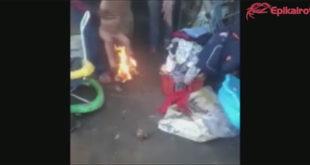 """Πα-τέρας καίει το παιδί του για """"τιμωρία""""! (Βίντεο)"""