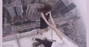 Θα σας κοπεί η ανάσα! Αγόρι κρατάει την κοπέλα του από το χέρι στο κενό...πάνω σε ουρανοξύστη! (Βίντεο)