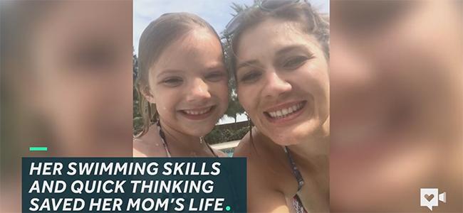 5χρονη σώζει τη μητέρα της από βέβαιο πνιγμό! (Βίντεο)