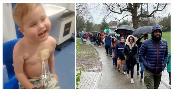 Χιλιάδες άνθρωποι περίμεναν στη βροχή για να δώσουν βλαστοκύτταρα και να σώσουν παιδί που παλεύει με τον καρκίνο