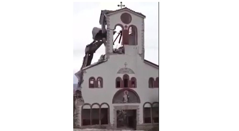 Καταγγελία: Κατεδάφιση Αγίου Δημητρίου Μαυροπηγής (Βίντεο)