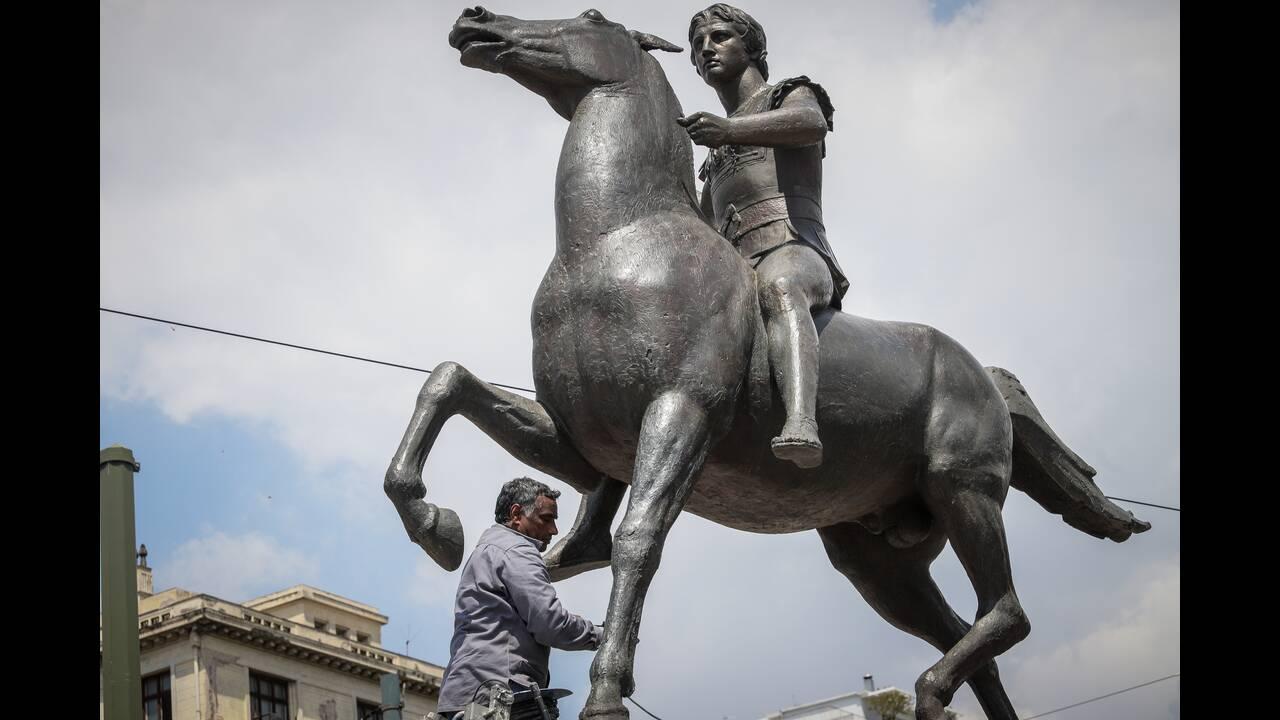 Άγαλμα Μεγάλου Αλεξάνδρου στην Αθήνα - Φωτογραφίες #3